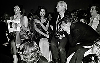 Minelli Jagger Warhol Halston6907.JPG<br /> New York, NY 1978 FILE PHOTO<br /> Liza Minelli Bianca Jagger, Andy Warhol Halston<br /> Studio 54<br /> Digital photo by Adam Scull-PHOTOlink.net<br /> ONE TIME REPRODUCTION RIGHTS ONLY<br /> NO WEBSITE USE WITHOUT AGREEMENT<br /> 718-487-4334-OFFICE  718-374-3733-FAX