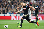 Real Madrid's Carlos Henrique Casemiro (l) and SSC Napoli's Faouzi Ghoulam during Champions League 2016/2017 Round of 16 1st leg match. February 15,2017. (ALTERPHOTOS/Acero)