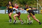 R Ní Chonchuir Chorca Dhuibhne takes on Holly Power Dr Crokes   during their Intermediate Championship semi final in Lewis Road on Sunday