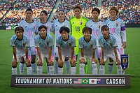 Carson, CA - Thursday August 03, 2017: Japan starting eleven during a 2017 Tournament of Nations match between the women's national teams of the United States (USA) and Japan (JAP) at StubHub Center.