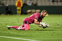 8th February 2021; Jubilee Stadium, Sydney, New South Wales, Australia; A League Football, Sydney Football Club versus Wellington Phoenix; Andrew Redmayne of Sydney dives on a loose through ball