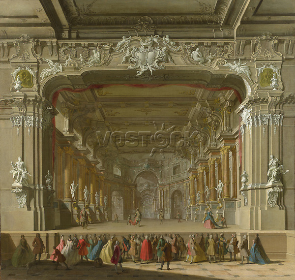 Full title: The Interior of a Theatre<br /> Artist: Italian, North<br /> Date made: probably 1700-50