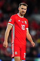 Aaron Ramsey of Wales during the UEFA Nations League B match between Wales and Ireland at Cardiff City Stadium in Cardiff, Wales, UK.September 6, 2018