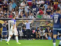 Houston, TX - Tuesday June 21, 2016: Jurgen Klingsmann during a Copa America Centenario semifinal match between United States (USA) and Argentina (ARG) at NRG Stadium.