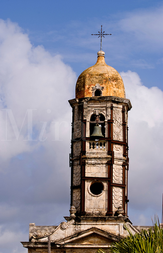 Steeple in the town of Cienfurgos Cuba