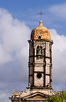 Steeple in the town of Cienfurgos Cuba