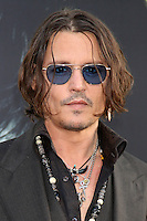 """LOS ANGELES - MAY 7:  Johnny Depp arrives at the """"Dark Shadows"""" - Los Angeles Premiere at Graumans Chinese Theater on May 7, 2012 in Los Angeles, CA"""