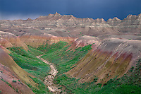 Badlands and thunderstorm<br />
