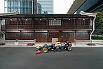 Infiniti Red Bull Racing RB10 car is pictured in front of the 1920 Mao Zedong former residence on April 11, 2014 in Shanghai, China. Photo by Victor Fraile / Power Sport Images