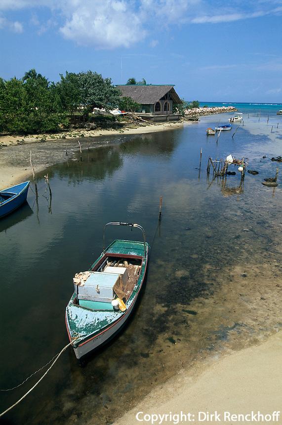 Flussmündung in Guardalavaca, Provinz Holguin, Cuba