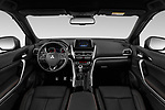 Stock photo of straight dashboard view of 2020 Mitsubishi Eclipse-Cross BLACK-Collection+ 5 Door SUV Dashboard
