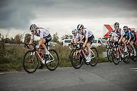Franziska Koch (Sunweb) leading the peloton<br /> <br /> 17th Ronde van Vlaanderen 2020<br /> Elite Womens Race (1.WWT)<br /> <br /> One Day Race from Oudenaarde to Oudenaarde 136km<br /> <br /> ©kramon