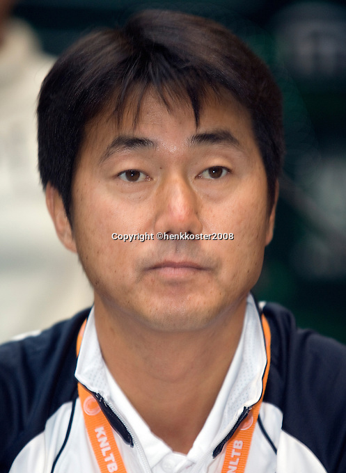 18-9-08, Netherlands, Apeldoorn, Tennis, Daviscup NL-Zuid Korea, Draw in cityhall,  NamHoon Kim, captain Korea