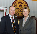 :: MOTHERWELL VICE CHAIRMAN DEREK WEIR, WHO IS EXPECTED TO TAKE OVER FROM JOHN BOYLE, WITH CHEIF EXECUTIVE LEEANN DEMPSTER ::