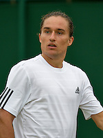 28-06-13, England, London,  AELTC, Wimbledon, Tennis, Wimbledon 2013, Day five, Alexandr Dolgopolov (UKR)<br /> <br /> <br /> <br /> Photo: Henk Koster