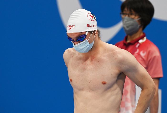Alec Elliot, Tokyo 2020 - Para Swimming // Paranatation.<br /> Alec Elliot competes in the men's S10 50m freestyle heats // Alec Elliot participe aux éliminatoires masculines du 50 m libre S10. 08/25/2021.