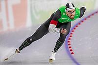 26th December 2020; Thialf Ice Stadium, Heerenveen, Netherlands;  World Championships Qualification Tournament WKKT. 1500m men, Kjeld Nuis during the WKKT 26-12-2020 WKKT