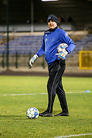 Goalkeeper coach Frank Verwimp of Woluwe pictured before a female soccer game between FC Femina White Star Woluwe and Club Brugge YLA on the eleventh matchday of the 2020 - 2021 season of Belgian Scooore Womens Super League , Friday 22 January 2021  in Woluwe , Belgium . PHOTO SPORTPIX.BE | SPP | SEVIL OKTEM