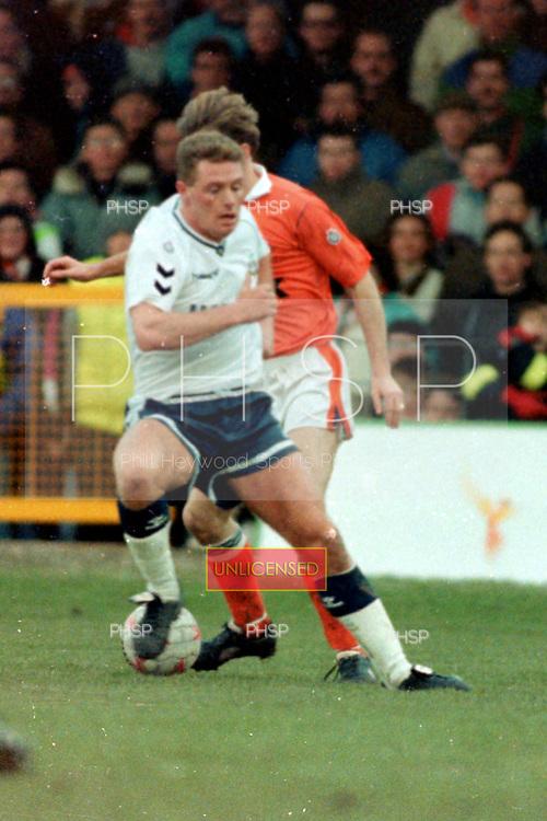 05/01/1991 FAC 3 Round Blackpool v Tottenham Hotspur<br /> <br /> Paul Gascoigne