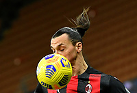 Football Soccer: Tim Cup Quarter Finals InternazionaleMIlan vs Milan, Giuseppe Meazza Stadium (San Siro) Milan, on January 26, 2021.<br /> Milan's Zlatan Ibrahimovic in action during the Tim Cup  football match between Inter  and Milan at the Giuseppe Meazza stadium in Milan, January 26, 2021.<br /> UPDATE IMAGES PRESS/Isabella Bonotto