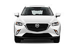 Car photography straight front view of a 2017 Mazda CX-3 Touring-AWD 5 Door SUV Front View
