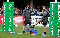 11 January 2020; Ulster Rugby defence coach Jared Payne and Head of S&C Tom Clough before the Heineken Champions Cup Pool 3 Round 5 match between ASM Clermont Auvergne and Ulster at Stade Marcel-Michelin in Clermont-Ferrand, France. Photo by John Dickson/DICKSONDIGITAL