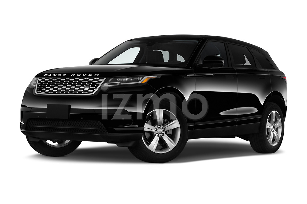 Stock pictures of low aggressive front three quarter view of 2020 Land Rover Range-Rover-Velar S 5 Door SUV Low Aggressive