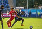 Waldhofs Joseph Boyamba (Nr.9) am Ball beim Spiel in der 3. Liga, SV Waldhof Mannheim - Türgücü München.<br /> <br /> Foto © PIX-Sportfotos *** Foto ist honorarpflichtig! *** Auf Anfrage in hoeherer Qualitaet/Aufloesung. Belegexemplar erbeten. Veroeffentlichung ausschliesslich fuer journalistisch-publizistische Zwecke. For editorial use only. DFL regulations prohibit any use of photographs as image sequences and/or quasi-video.