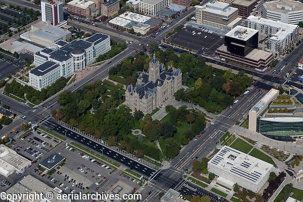 aerial photograph Salt Lake City and County Building, Washington Square, Supreme Court, Salt Lake City, Utah