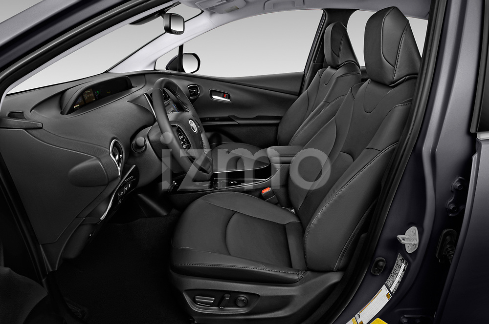 Front seat view of a 2019 Toyota Prius XLE 5 Door Hatchback front seat car photos
