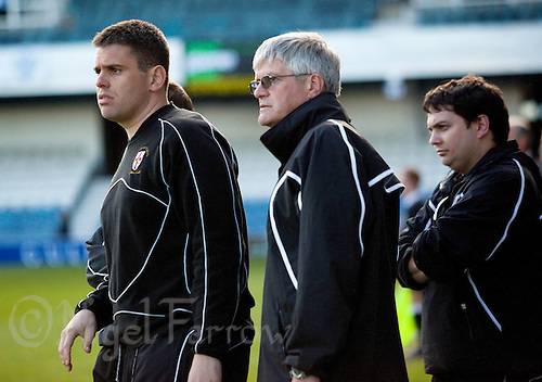 29 APR 2009 - LONDON,GBR -  Loughborough University Director of Football James Ellis watches the team during their 2009 BUCS Mens Football Championship Final match against UWE Hartpury. (PHOTO (C) NIGEL FARROW)