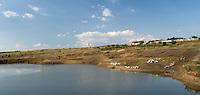 REPUBLIC OF MOLDOVA, Gagauzia, Tomai, 2009/07/2..View of village Tomai: steppe landscape and water tanks..© Bruno Cogez / Est&Ost Photography..REPUBLIQUE MOLDAVE, Gagaouzie, Tomai, 2/07/2009..Vue du village de Tomai : paysage de steppe et réservoire d'eau..© Bruno Cogez / Est&Ost Photography