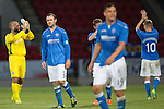 St Johnstone v FC Spartak Trnava...31.07.14  Europa League 3rd Round Qualifier<br /> A disappointed Dave Mackay leaves the pitch at full time<br /> Picture by Graeme Hart.<br /> Copyright Perthshire Picture Agency<br /> Tel: 01738 623350  Mobile: 07990 594431