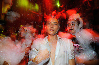 Foam party in a nightclub in the former French Concession.