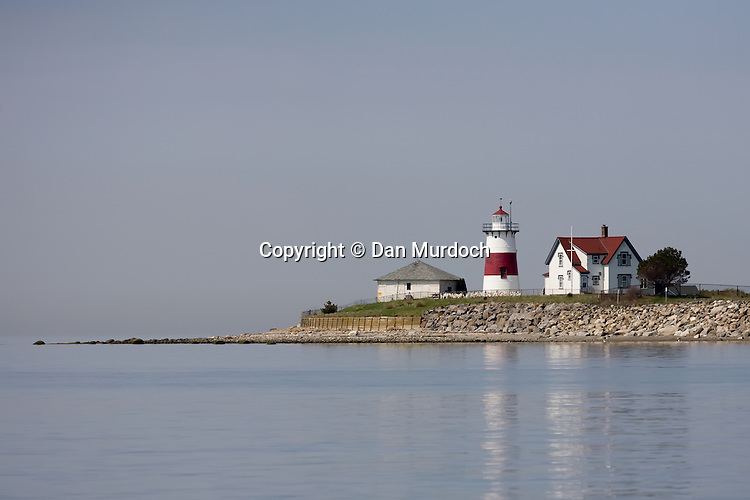 Stratford Point Lighthouse in Stratford, CT on Long Island Sound