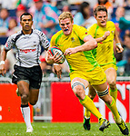Fiji play Australia in the Cup Quarter Final on Day 3 of the Cathay Pacific / HSBC Hong Kong Sevens 2013 on 24 March 2013 at Hong Kong Stadium, Hong Kong. Photo by Victor Fraile / The Power of Sport Images