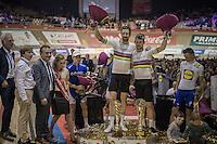 Winners of the 2016 Gent 6: World Madison Champions Mark Cavendish (GBR/Dimension Data) & Sir Bradley Wiggins (GBR/Wiggins)