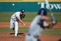 Penn State Nittany Lions relief pitcher Tucker Triebold (27) in action against the Xavier Musketeers at Coleman Field at the USA Baseball National Training Center on February 25, 2017 in Cary, North Carolina. The Musketeers defeated the Nittany Lions 10-4 in game one of a double header. (Brian Westerholt/Four Seam Images)
