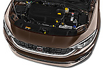 Car Stock 2016 Fiat Tipo Easy 4 Door Sedan Engine  high angle detail view