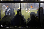 Gretna 0 Dalbeattie Star 0, 11/03/2016. Raydale Park, Lowland League. The home dugout watches the first-half action at Raydale Park, as Gretna take on Dalbeattie Star in a Scottish Lowland League fixture which ended 0-0. The match was one of six arranged by the league and GroundhopUK over the weekend to accommodate groundhoppers, fans who attempt to visit as many football venues as possible. Around 100 fans in two coaches from England participated in the 2016 Lowland League Groundhop and they were joined by other individuals from across the UK which helped boost crowds at the six featured matches. Photo by Colin McPherson.