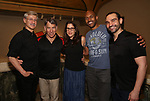 "David Garrison, Stephen Schwartz, Anne Kaufman, Alvin Hough Jr. and Javier Munoz attends the Opening Night performance afterparty for ENCORES! Off-Center production of ""Working - A Musical""  at New York City Center on June 26, 2019 in New York City."