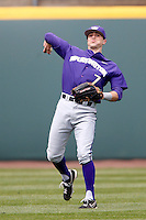 Braden Bishop #7 of the Washington Huskies during a baseball game against the UCLA Bruins at Jackie Robinson Stadium on March 17, 2013 in Los Angeles, California. (Larry Goren/Four Seam Images)