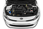 Car Stock 2021 KIA Rio More 5 Door Hatchback Engine  high angle detail view