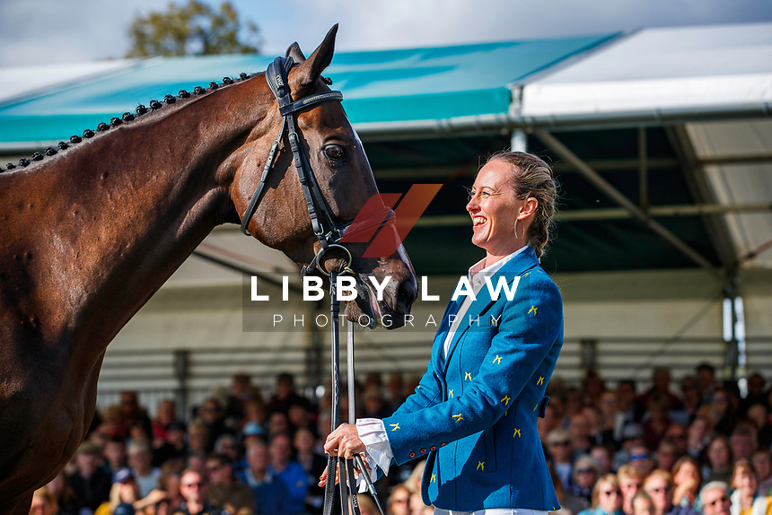 USA-Andrea Baxter presents Indy 500 during the First Horse Inspection. 2019 GBR-Land Rover Burghley Horse Trials. Wednesday 4 September. Copyright Photo: Libby Law Photography