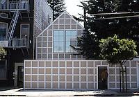 "San Francisco: House on Oak St. by Donald MacDonald, Architect/Developer. ""The VW's of San Francisco Housing."" 1984."
