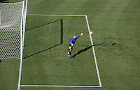 Kasey Keller takes warm up shots. The USA defeated China, 4-1, in an international friendly at Spartan Stadium, San Jose, CA on June 2, 2007.