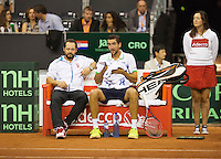 September 14, 2014, Netherlands, Amsterdam, Ziggo Dome, Davis Cup Netherlands-Croatia, Croatian bench<br /> Photo: Tennisimages/Henk Koster
