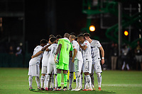 LAKE BUENA VISTA, FL - JULY 27: LAFC before the second half during a game between Seattle Sounders FC and Los Angeles FC at ESPN Wide World of Sports on July 27, 2020 in Lake Buena Vista, Florida.