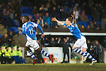 St Johnstone v Celtic.....19.02.13      SPL.Nigel Haselbaink celebrates his goal with Liam Craig.Picture by Graeme Hart..Copyright Perthshire Picture Agency.Tel: 01738 623350  Mobile: 07990 594431