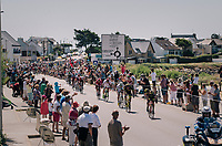 the forming of the first breakaway<br /> <br /> Stage 5: Lorient > Quimper (203km)<br /> <br /> 105th Tour de France 2018<br /> ©kramon